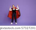 little Dracula on purple background. 57327201