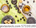 Turkish tea in traditional glass 57330189