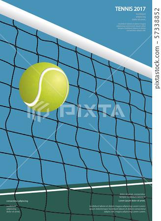Tennis Championship Poster Vector illustration 57338852