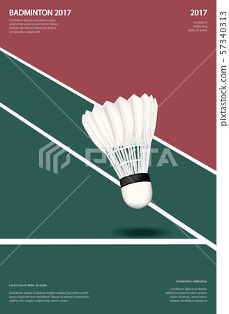 Badminton Championship Poster Vector illustration 57340313