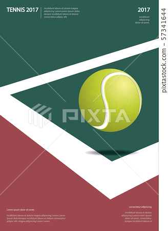 Tennis Championship Poster Vector illustration 57341644