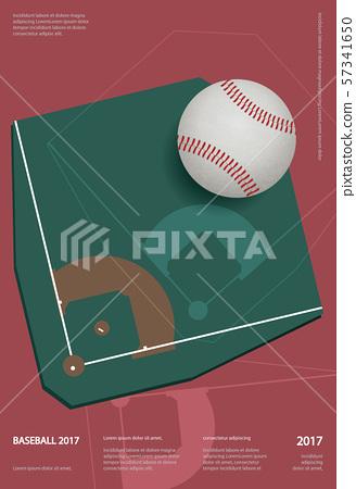 Baseball Championship Sport Poster Design Vector Illustration 57341650