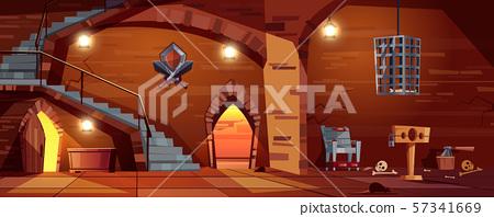 medieval torture hall, room of executioner 57341669
