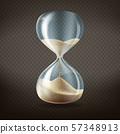 3d realistic hourglass with running sand 57348913