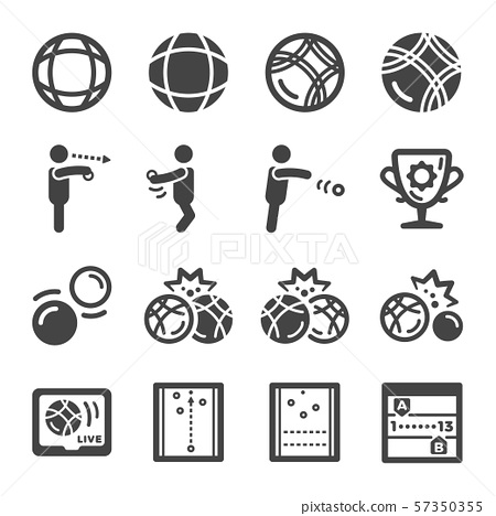 petanque icon set 57350355