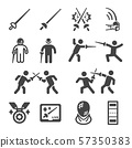 fencing icon set 57350383