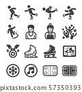 ice skate icon set 57350393