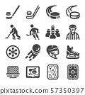 ice hockey icon set 57350397