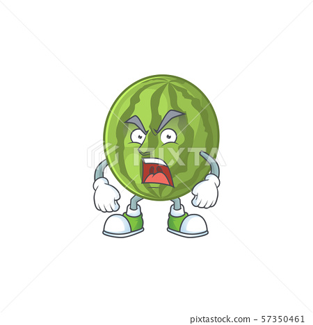 Angry watermelon fruit fresh cartoon with mascot 57350461