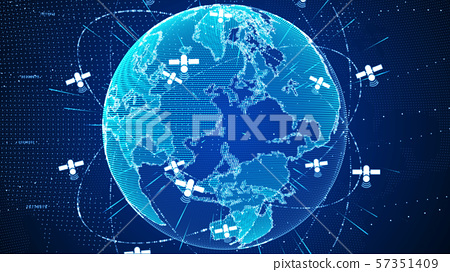 Abstract digital global network connections with 57351409