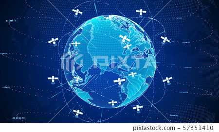 Abstract digital global network connections with 57351410