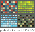 Colorful shiny puzzle on a gray background, separate pieces 57352722