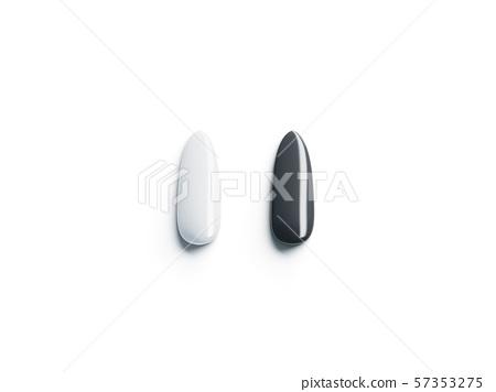 Blank black and white fake nails mockup, top view 57353275