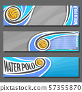 Vector banners for Water Polo 57355870