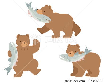 一隻熊的例證套與矛和一頭熊的與矛 57356658