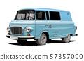 Vector retro van 57357090