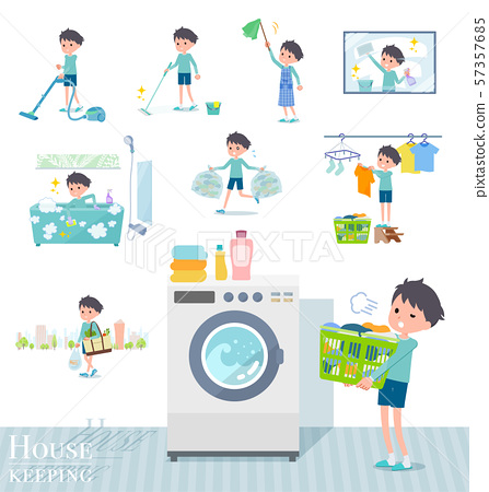 flat type blue clothing boy_housekeeping 57357685