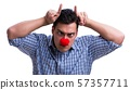 Funny man clown isolated on white background 57357711