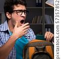 book, bookshelf, homework 57357852