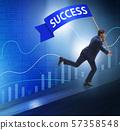 Businessman in success business concept 57358548