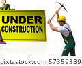 Concept of under construction for your webpage 57359389