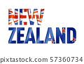 new zealand flag text font 57360734