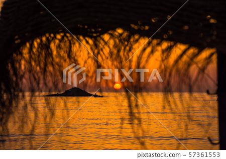 Sunset over Mediterranean Sea 57361553