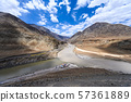 View of confluence of the Indus and Zanskar Rivers in Ladakh 57361889