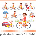 flat type Red clothing short hair boy_city cycle 57362661