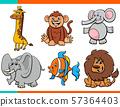 set of cartoon funny animal characters 57364403