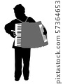 Accordionist boy 57364653