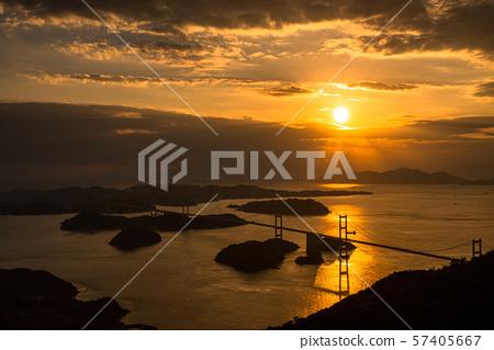 <爱媛县> Kurushima海峡的夜景 57405667