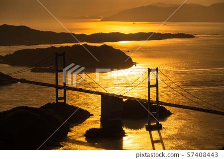 <爱媛县> Kurushima海峡的夜景 57408443
