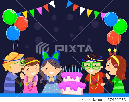 Stickman Kids Glow In The Dark Birthday Party 57423778