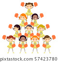 Stickman Kids Girls Cheering Squad Numbers 57423780