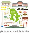 가고시마 현 특산품 관광 일러스트 세트 57434389