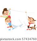 ครอบครัวกำลังซักผ้า 57434760