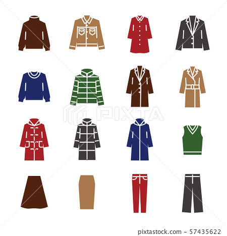 衣服时尚图标集 57435622