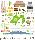 Shizuoka Prefecture special product sightseeing illustration set 57436176