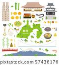 시즈오카 현 특산품 관광 일러스트 세트 57436176