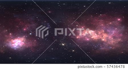 360 degree space nebula panorama, equirectangular 57436478