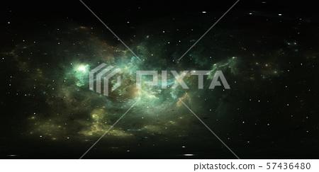 360 degree space nebula panorama, equirectangular 57436480