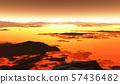 Volcanic terrain landscape, lava flow 57436482