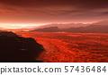 Surface of Venus. Hot lava flows on Venus 57436484