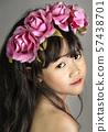 portrait of asian little  girl 57438701