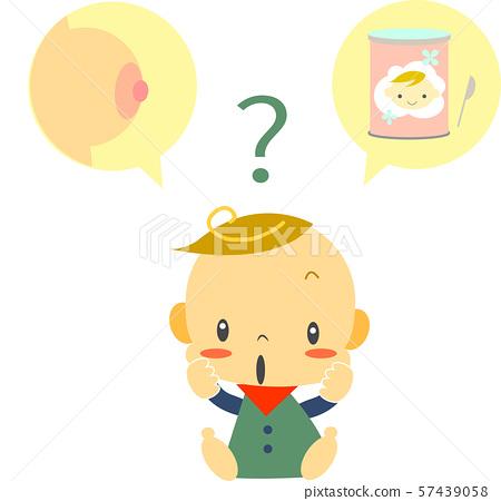 育兒母乳或奶粉嬰兒 57439058
