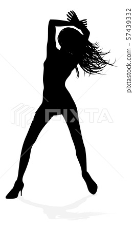 Woman Dancing Person Silhouette 57439332