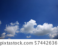 Blue sky and white clouds perming sky and clouds stock photo 57442636