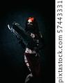 woman, mask, gun 57443331
