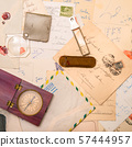 vintage paper for correspondance background 57444957